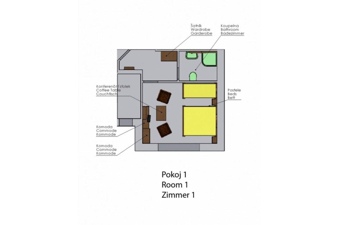 Třílůžkový pokoj (P1)