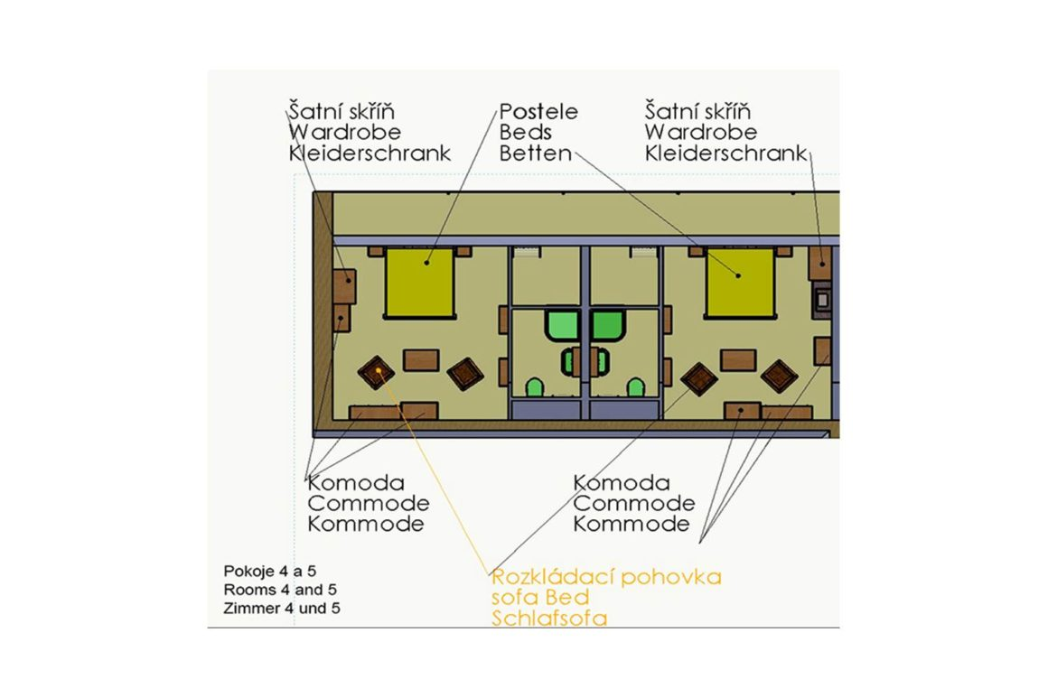 Dvoulůžkový pokoj s přistýlkou (P5)
