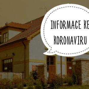 Informace ke koronaviru